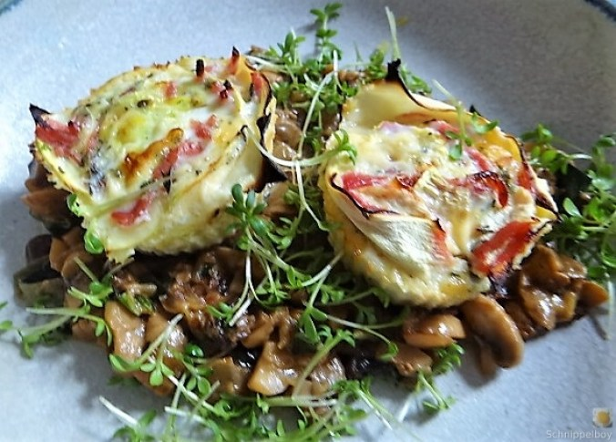Zucchini Röllchen mit Champignon (3)