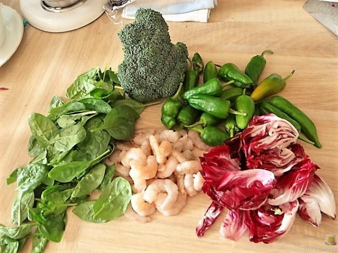 Bandnudeln mit Gemüse und Garnelen (7)