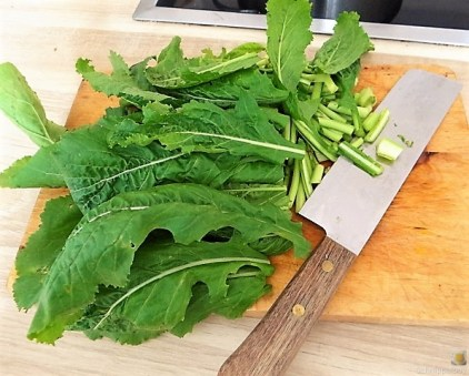 Gedämpftes Gemüse, Ernußsauce und Polenta, (17)