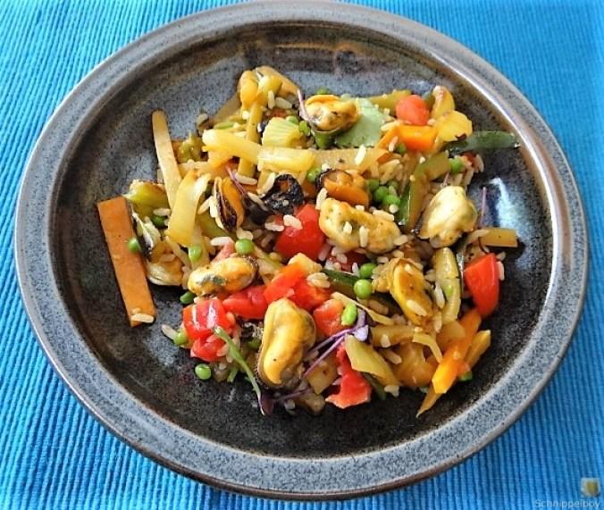 Gemüse,Reis,Muscheln (2)