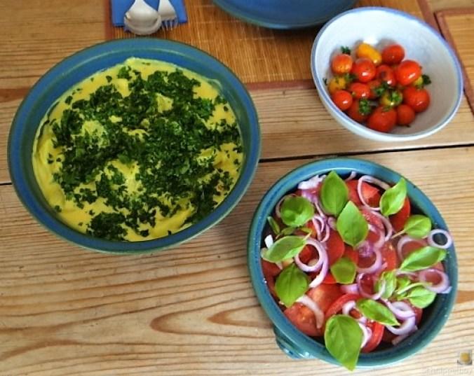 Béchamelkartoffeln und Tomaten (1)