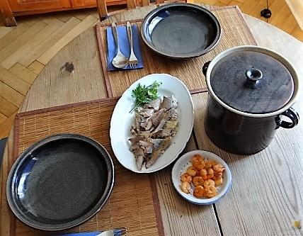 Butermilchsuppe mit geräuchertem Fisch (31)