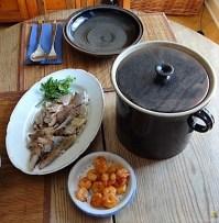 Butermilchsuppe mit geräuchertem Fisch (32)