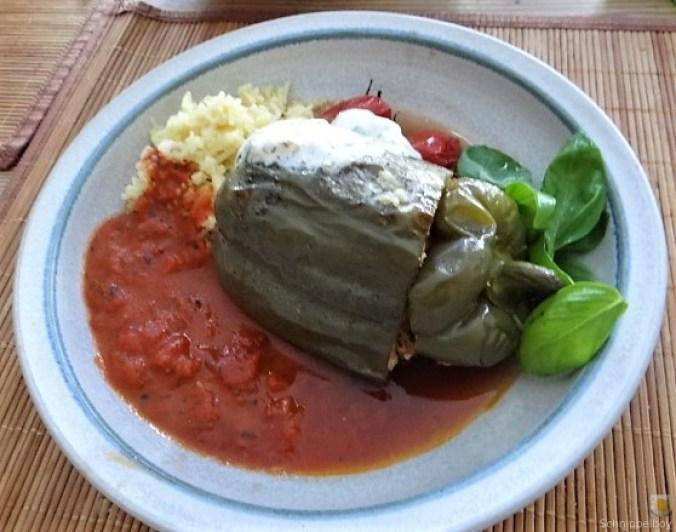 Gefüllte Paprika mit Tomatensauce und Reis (18)