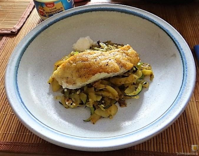 Rotbarsch auf Kartoffel und Zucchini (2)