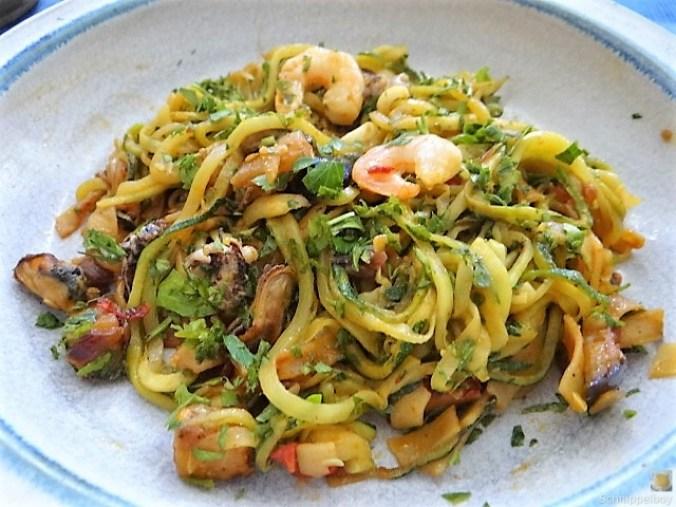 Zucchini Zoodles, Gemüse und Meeresfrüchte (4)