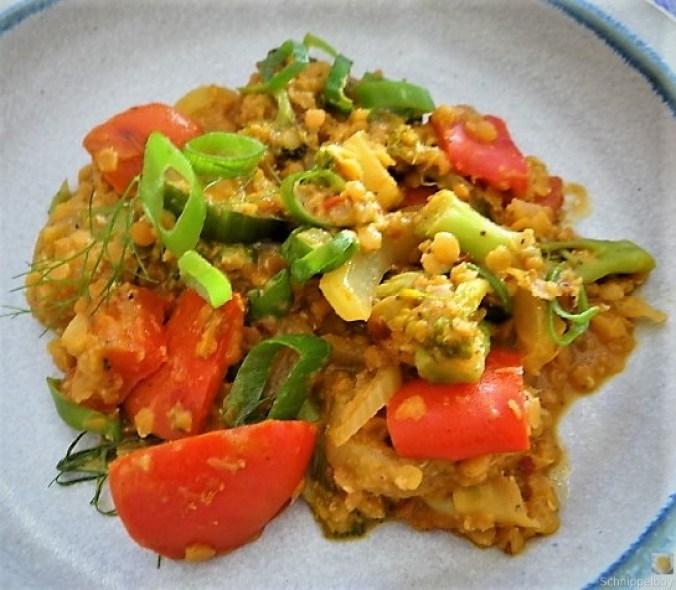 Gedünstetes Gemüse mit roten Linsen (20)