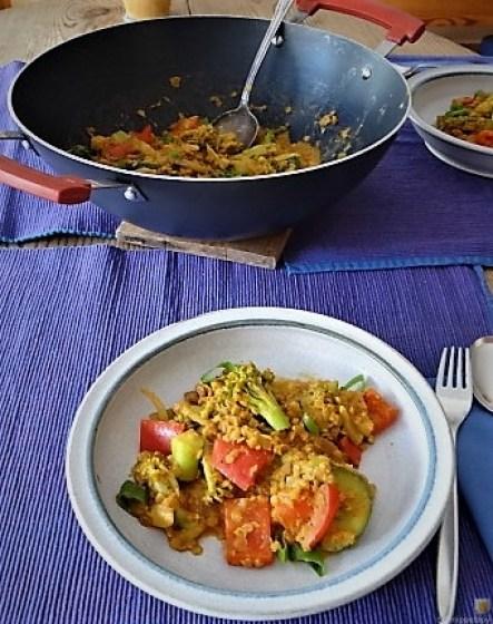Gedünstetes Gemüse mit roten Linsen (6)