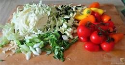 Nudel-Gemüse Pfanne mit geräuchertem Lachs (9)