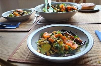 Kartoffel Zoodles mit Gemüse und Lachsforelle (25)