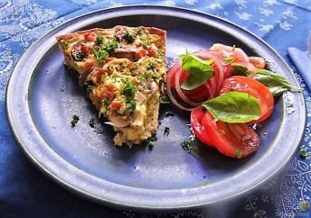 Champignon Quiche, Tomatensalat (25)