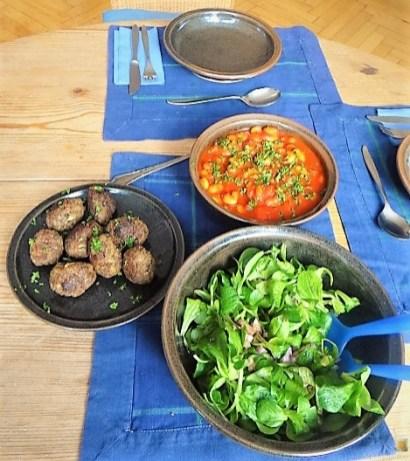 Köfte,Tomaten-Bohnensalat (17)