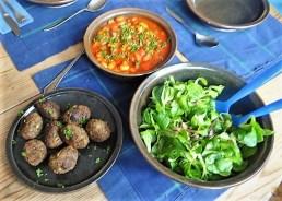 Köfte,Tomaten-Bohnensalat (18)