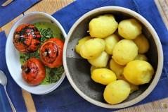 Spinat mit Kürbis und Ei (29)