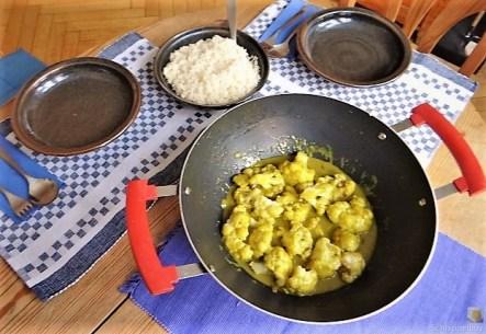 Blumenkohl Curry und Reis (15)