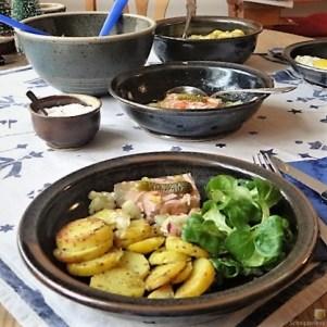 Bratkartoffel,Spiegelei,Sülze,Feldsalat, (15)