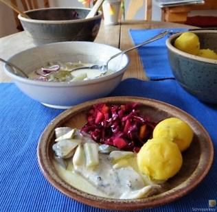 Marinierter Matjes und Rotkohlsalat (20)