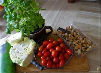 Spitzkohl, Linguine,Snackpperika, Tomaten und Muscheln (9)