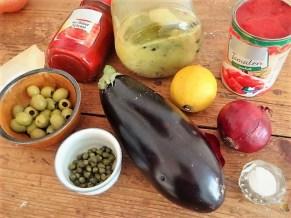 Gulasch mit Klößen und Auberginensalat (11)
