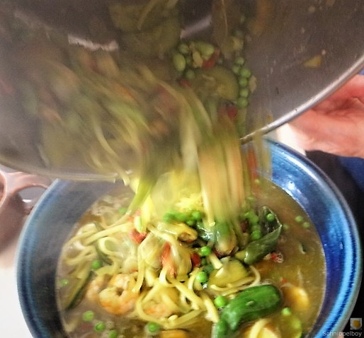 Gemüsesuppe mit Meeresfrüchten und Queller (20)