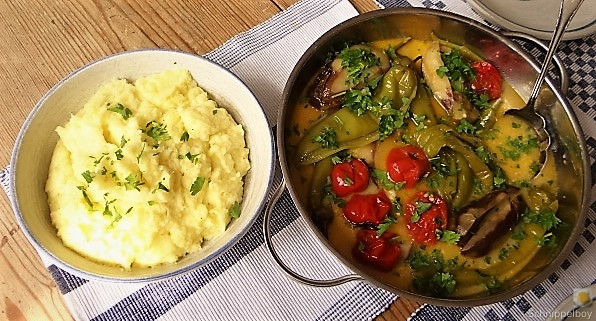 Geschmortes Gemüse mit Kartoffelstampf (12)