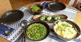 Erbsen mit Couscous und Erbspüree (14)