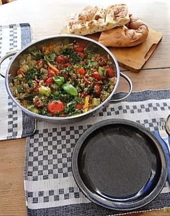 Zucchini-Gemüse mit Bulgur in Olivenöl (14)