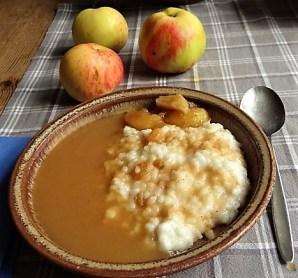 Reisbrei in Kokosmilch mit Apfelkompott-Mus (16)