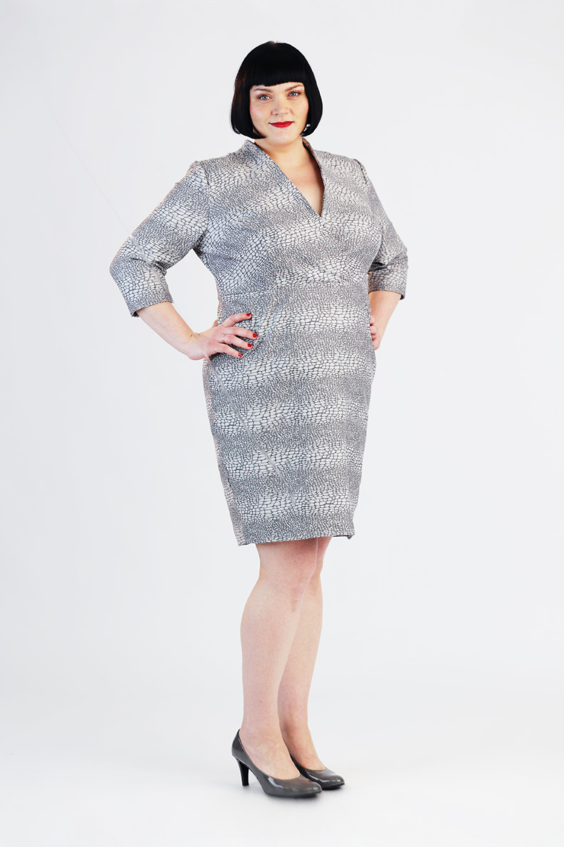 Plus size sewing patterns by schnittchen sewing pattern jeannie dress plussize jeuxipadfo Image collections