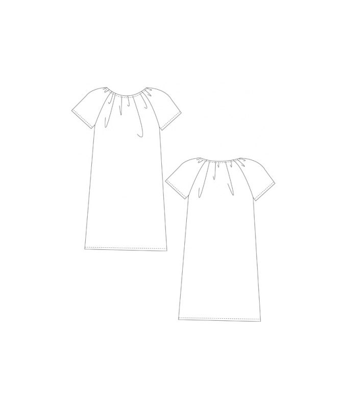 Schnittmuster für ein einfaches Sommerkleid.
