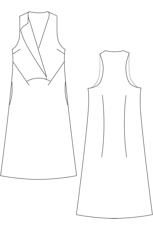 Schnittmuster Kleid Joy - Variante Tank Top Style