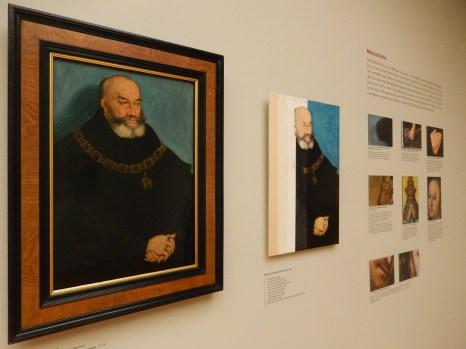 Dokumentation der Maltechniken zu dem Bildnis Georg des Bärtigen, Herzog von Sachsen 1534
