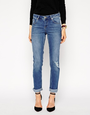 Boyfriend-Jeans bis Länge 34
