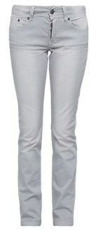 Catie Slim: schmale Hose in Farbe light grey bis Länge 36