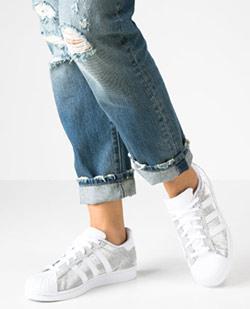 Glamour Sneaker Damen Übergröße 42, 43, 44,