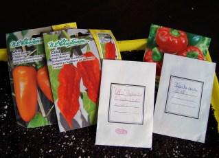 Die Samen, gekauft und gesammelt