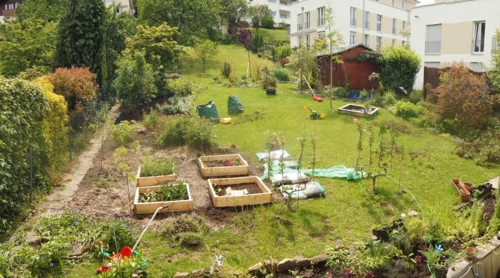 Es hat sich schon einiges getan im Hausgarten