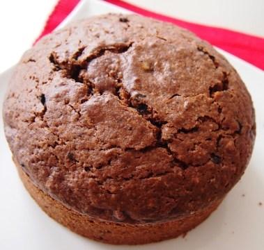 Nein, das ist kein Riesen-Muffin, sondern ein Teil der Brownie-Torte