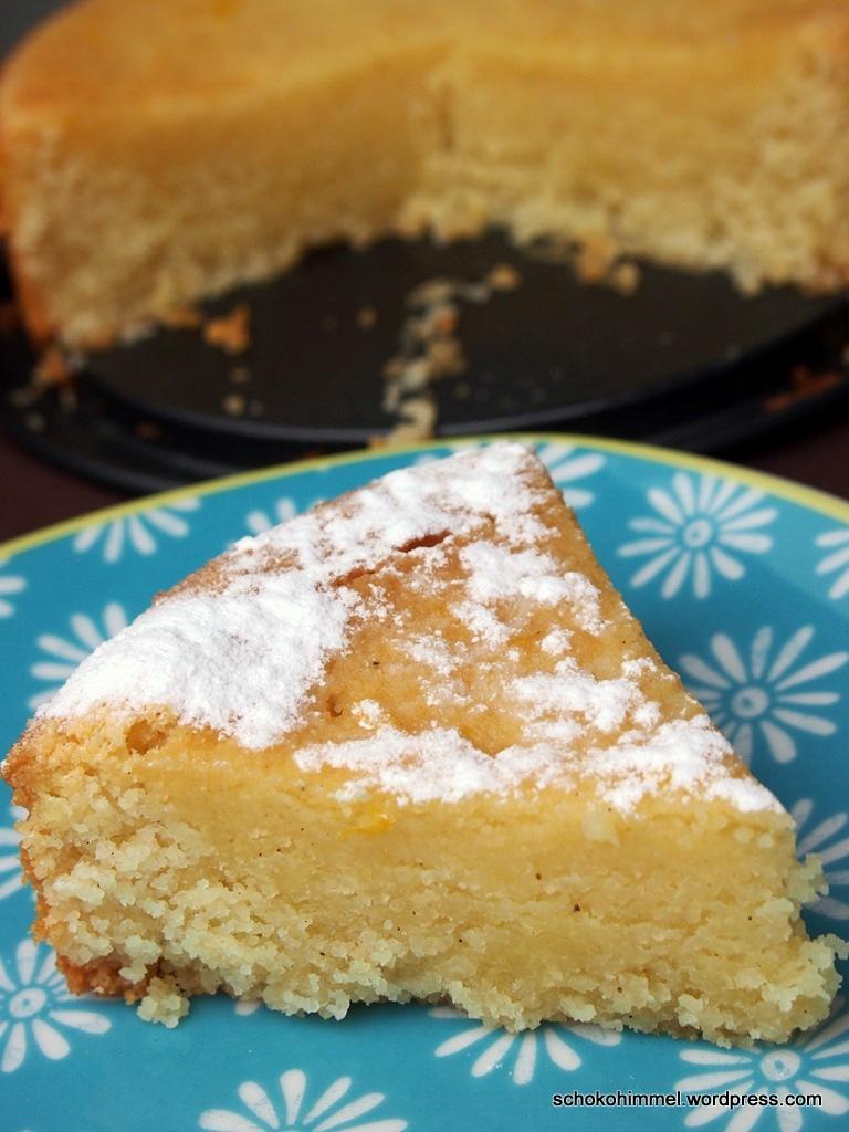 Grießkuchen mit Orangen-Karamell-Tränke