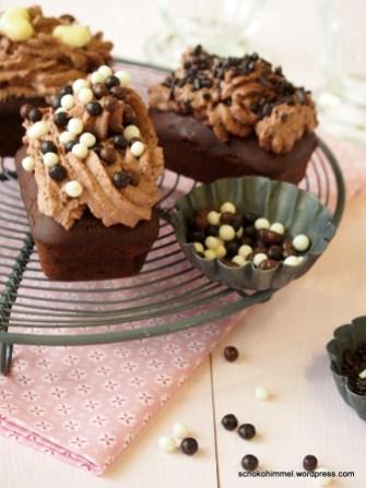 5-fache Schoko-Cupcakes - schmecken wie Schoko-Trüffel