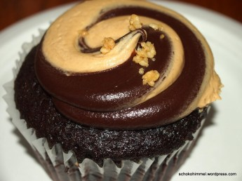 Peanut Butter Fudge Swirl (chocolate cake, crunchy peanutbutter buttercream filling, peanutbutter chocolate fudge swirl frosting)