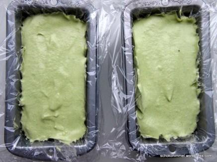 Kein Avocadokuchen, sondern Matcha-Parfait-Masse