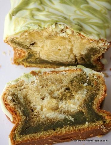 Marmorkuchen mit Grüntee-Pulver