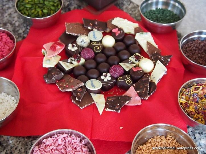 Nervennahrung für zwischendurch: Pralinen und Schokolade, was sonst?