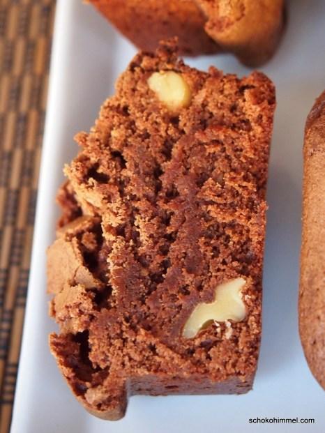 Walnüsse und Zimt im Brownie