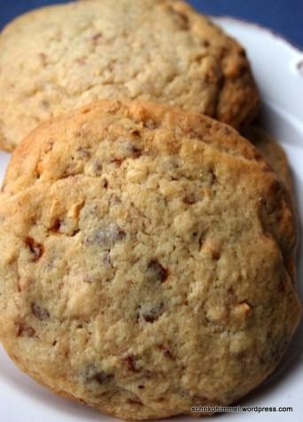 Besser als Ausstecherle: Nougat-Cookies mit gebrannten Mandeln
