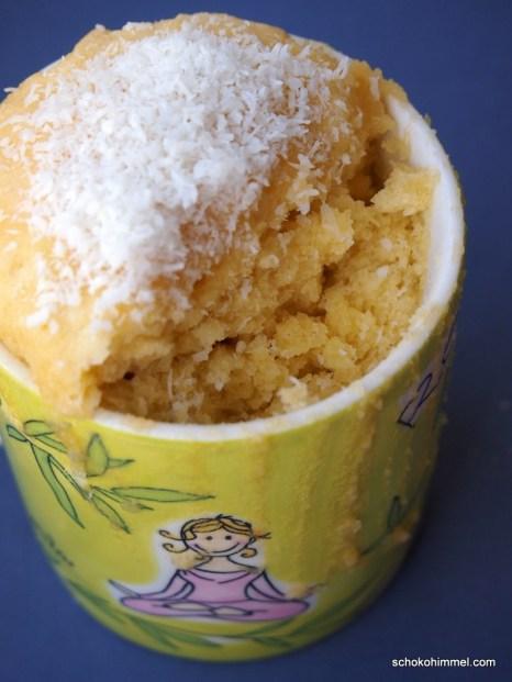köstlicher Kokos-Tassenkuchen