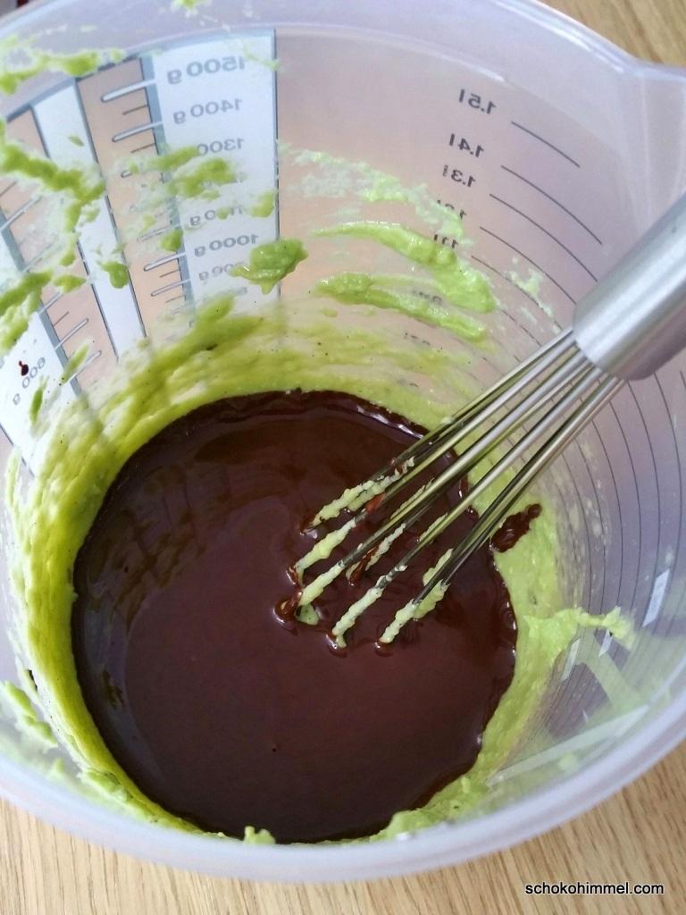 Teig für Avocado-Brownies