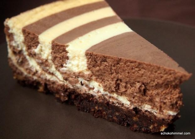 schnes muster in der topfentorte - Kuchen Muster