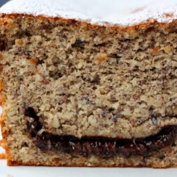 Ich back' mir… einen Haselnuss-Orangen-Kuchen mit Nougat-Kern